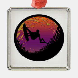 THE WAKEBOARD SCARECROW METAL ORNAMENT