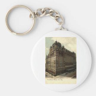 The Waldorf Astoria, New York City 1908 Vintage Keychain
