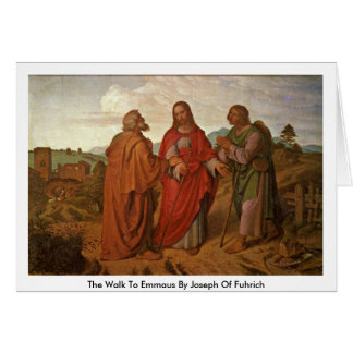 The Walk To Emmaus By Joseph Of Fuhrich Greeting Card