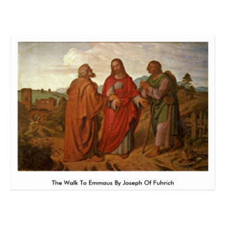 The Walk To Emmaus By Joseph Of Fuhrich Postcard