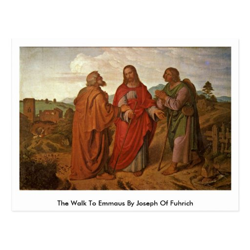 The Walk To Emmaus By Joseph Of Fuhrich Post Card