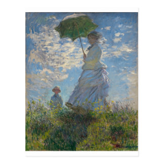 The Walk, Woman with a Parasol (1875) Postcard