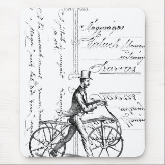The Walking Bicycle Mouse Pad