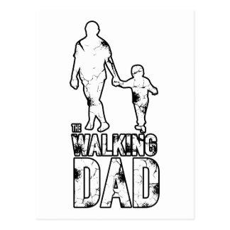The Walking Dad Postcard