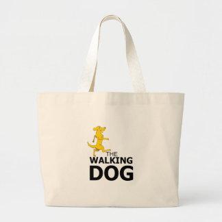 The walking dog large tote bag