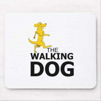 The walking dog mouse pad