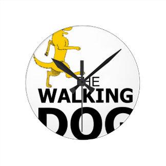 The walking dog round clock