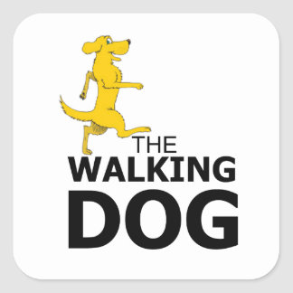The walking dog square sticker