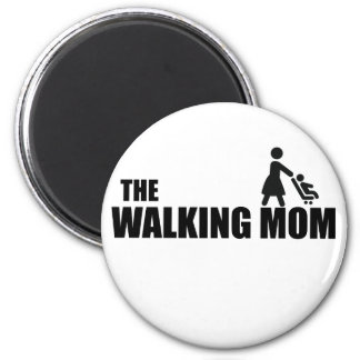 The Walking Mom 2 Inch Round Magnet