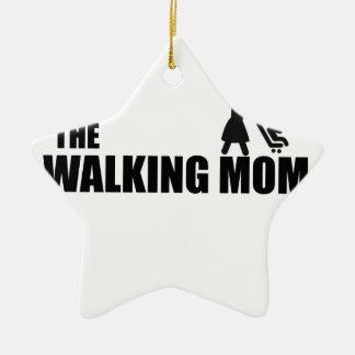 The Walking Mom Ceramic Star Ornament