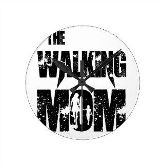 The Walking Mom Round Clock