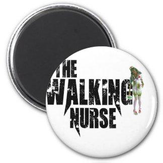 The Walking Nurse 2 Inch Round Magnet