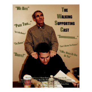 """""""The Walking Supporting Cast"""" - Quotes Poster"""