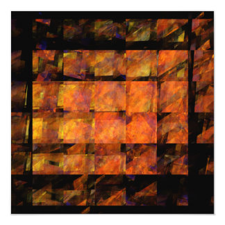 """The Wall Abstract Art 5.25"""" Square Invitation Card"""