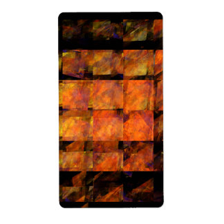 The Wall Abstract Art Fractal Shipping Label