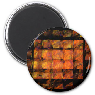 The Wall Abstract Art Round Magnet