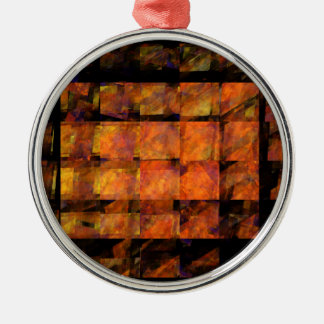 The Wall Abstract Art Round Metal Ornament