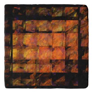 The Wall Abstract Art Stone Trivet