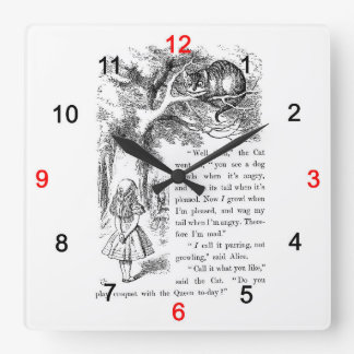 "The wall-mounted clock ""of Alice of the country of"