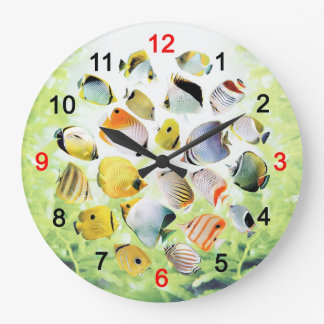 The wall-mounted clock of Butterfly Fish