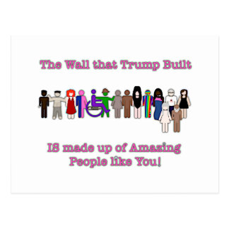 The Wall that Trump Built Postcard