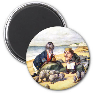 THE WALRUS AND THE CARPENTER IN WONDERLAND 2 INCH ROUND MAGNET
