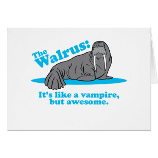 The Walrus Vampire Greeting Card