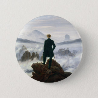The Wanderer above the Sea of Fog 2 Inch Round Button