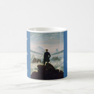 The wanderer above the sea of fog coffee mug