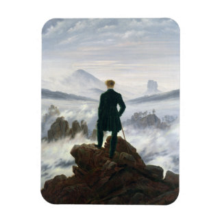 The Wanderer above the Sea of Fog Magnet