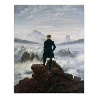 The Wanderer above the Sea of Fog Poster