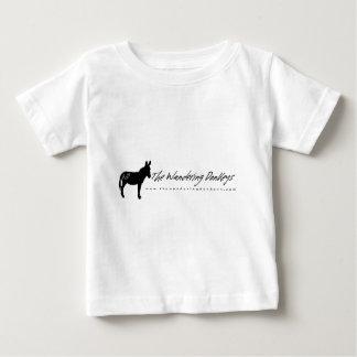 The Wandering Donkeys White Baby Logo T Shirts