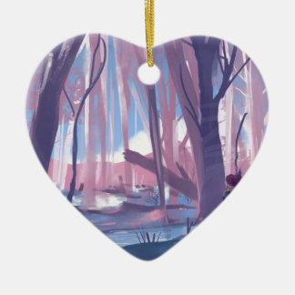 The Wandering Wanderer Ceramic Heart Ornament