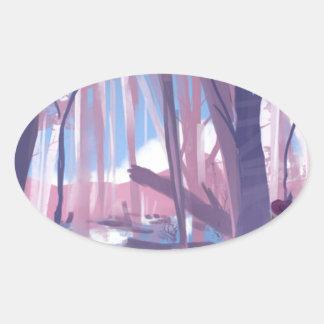 The Wandering Wanderer Oval Sticker
