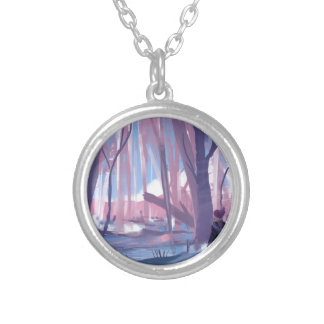 The Wandering Wanderer Silver Plated Necklace