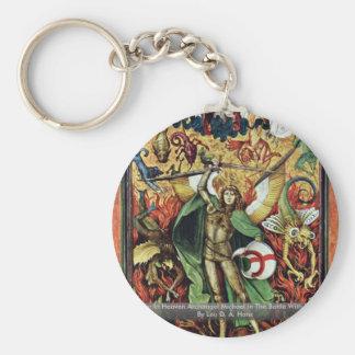 The War In Heaven Archangel Michael In The Battle Keychain