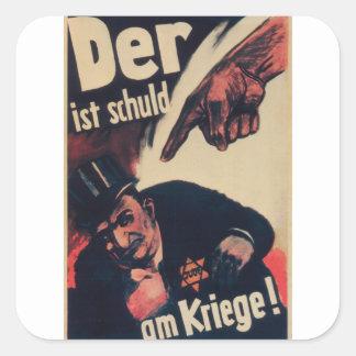 The war Propaganda Poster Square Sticker