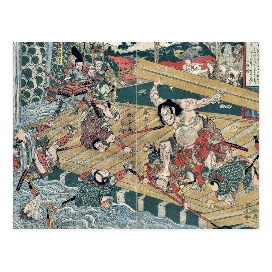The warrior Hachiro Tametomo by Katsukawa,Shuntei Postcard