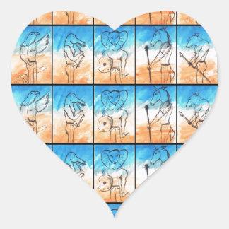 The Warriors Heart Sticker