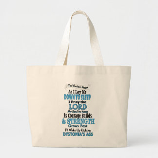 The Warrior's Prayer...Dystonia Large Tote Bag