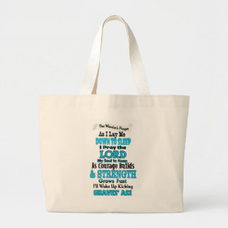 The Warrior's Prayer...Graves' Large Tote Bag