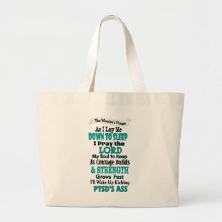 The Warrior's Prayer...PTSD Large Tote Bag