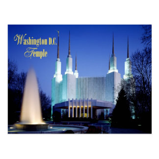 The Washington D.C. Temple in Kensington, Maryland Postcard