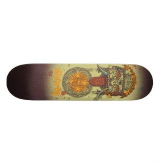 The Watcher #1 - Green Custom Skate Board