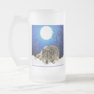 The Watcher Frosted Glass Beer Mug