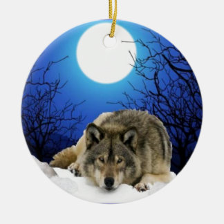The Watcher Round Ceramic Ornament
