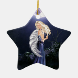 The Water Angel Ceramic Star Ornament