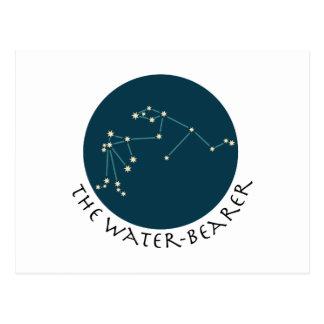 The water bearer postcard