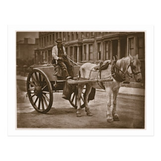 The Water Cart, from 'Street Life in London', 1877 Postcard