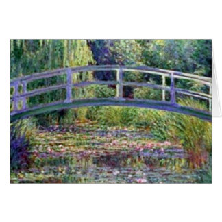 The Water Lily Pond by Claude Monet Card